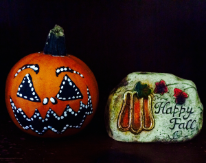 My small, painted jack-o-lantern