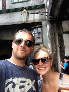 Andy and I in Diagon Alley