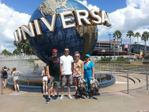 The four of us at Universal Studios