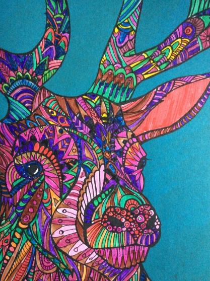coloring deer
