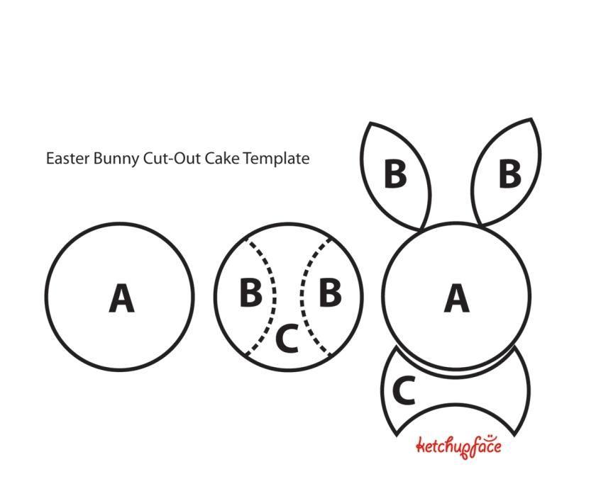 bunny-cutout-cake-template