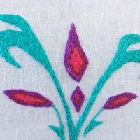 Embroidering Elsa's Coronation Dress