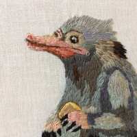 Fantasticly Beastly Niffler Embroidery