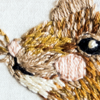 """Seamster Mouse"" – Freehand Embroidery, Nostalgia & Everyday Magic"