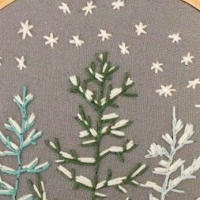 Snowy Pine Embroidery